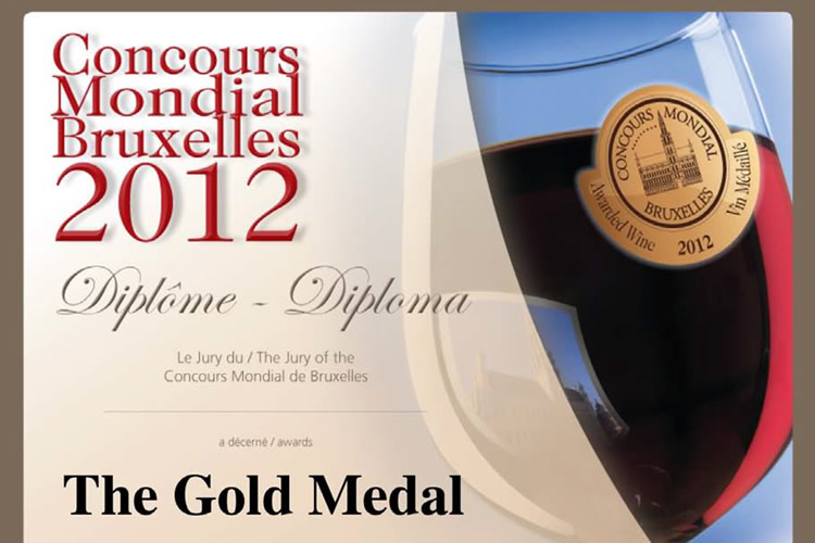 Concours Mondial Bruxelles 2012 - The Gold Medal.