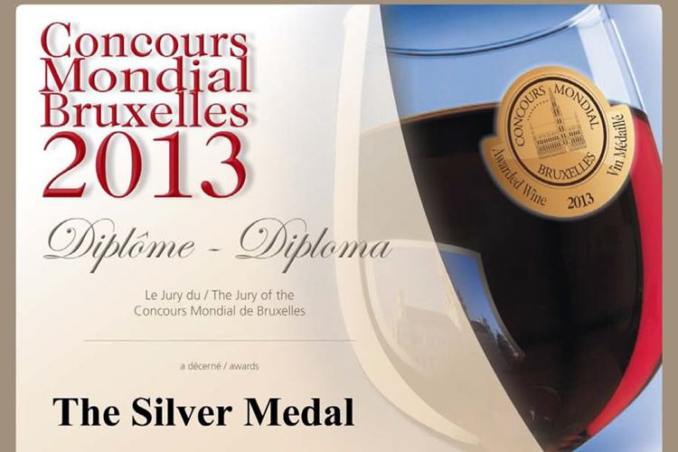 Concours Mondial Bruxelles 2013 - The Silver Medal.