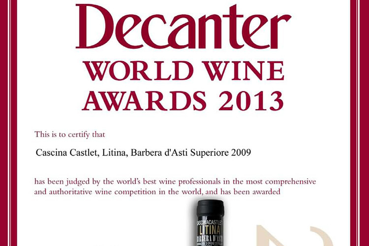 Decanter World Wine Awards 2013.