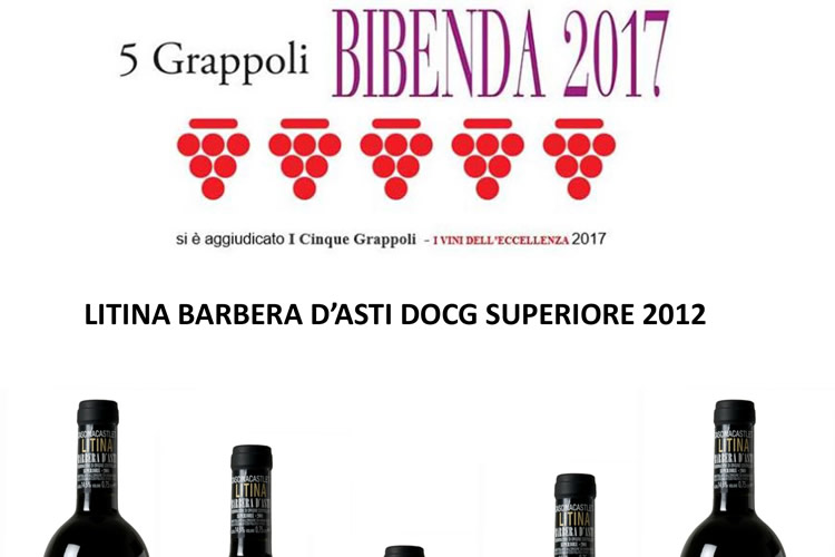 Bibenda 2017 - 5 Grappoli Litina 2012.