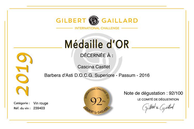 Gilbert Gaillard - Passum 2016.