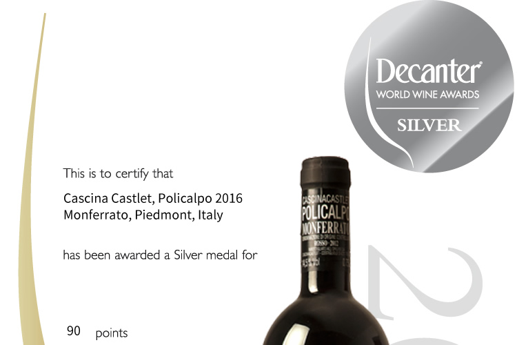 Decanter World Wine Awards Silver 2019.