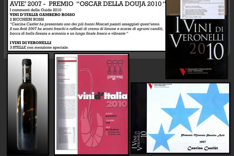 """Premio """"Oscar della Douja 2010""""."""