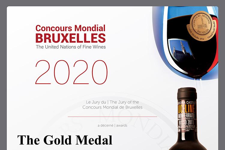 Concours Mondial Bruxelles 2020 Gold Metal.