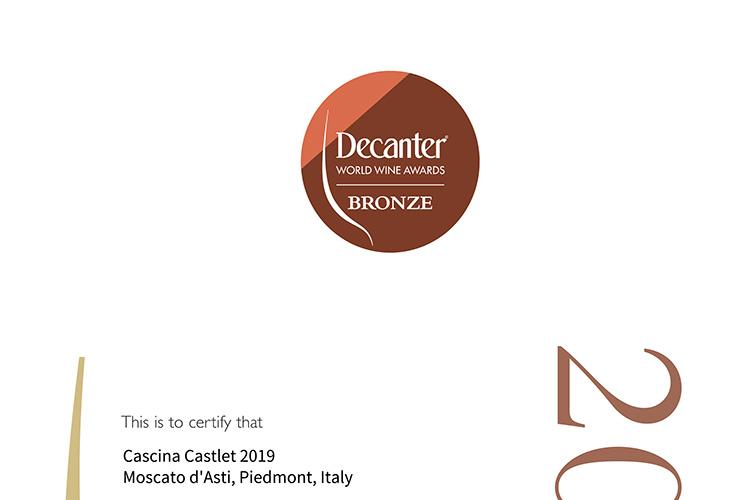 Decanter World Wine Awards Bronze Medal.
