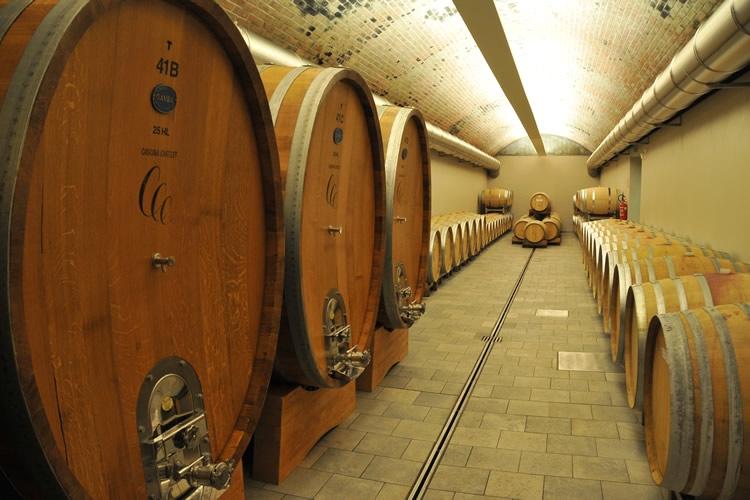Ein Weinkeller ohne Barrieren.