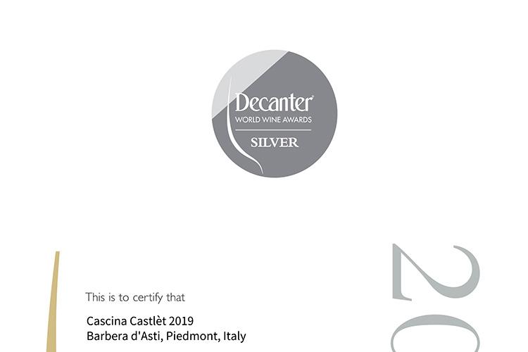 Decanter World Wine Awards Silver Medal.